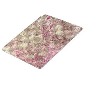 ピンクの静脈の大理石の一見のチェック模様の放射蘭 iPadスマートカバー