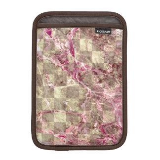 ピンクの静脈の大理石の一見のチェック模様の放射蘭 iPad MINIスリーブ