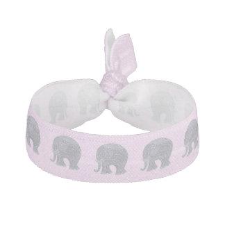 ピンクの非常にかわいい灰色の落書き象 ヘアタイ
