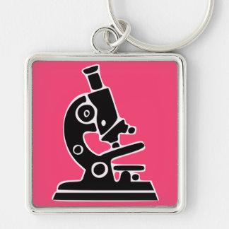 ピンクの顕微鏡 キーホルダー