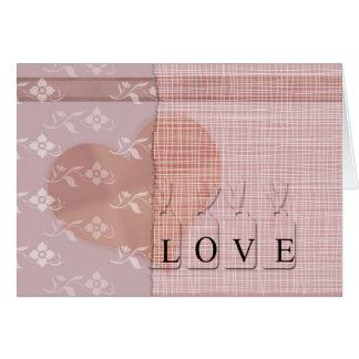 ピンクの風変わりな花の組合せ カード