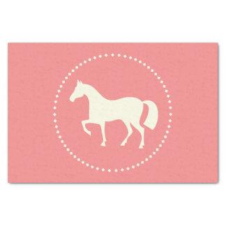 """ピンクの馬か子馬は10"""" x 15""""ティッシュペーパー広がります 薄葉紙"""