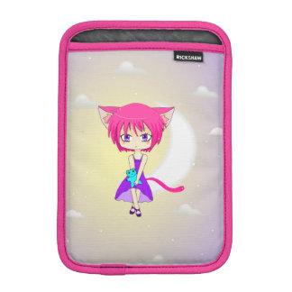 ピンクの髪のNekoの日本製アニメの女の子、iPad Miniスリーブ iPad Miniスリーブ