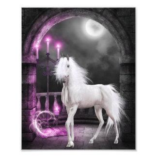 ピンクの魔法のユニコーン フォトプリント