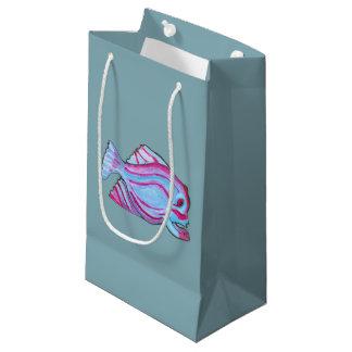 ピンクの魚のギフトバッグ スモールペーパーバッグ
