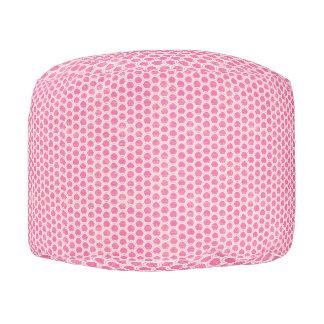 ピンクの魚スケールのラウンドパフ プーフ