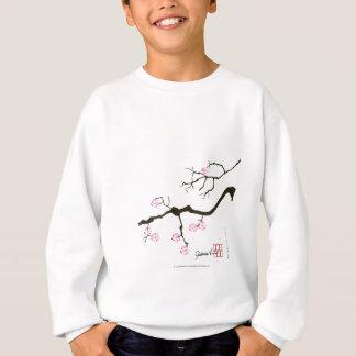 ピンクの鳥が付いている7つの桜の花、贅沢なfernandes スウェットシャツ
