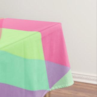 ピンクの黄色い水の三角形のパステルのテーブルクロス テーブルクロス