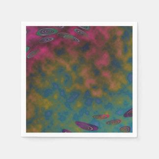ピンクの黄色くカラフルな雲の抽象芸術 スタンダードカクテルナプキン