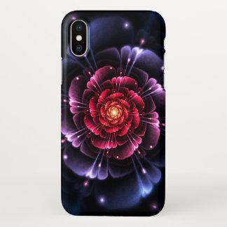 ピンクの黒いグリッターのフラクタルのZazzleのiPhone Xの箱 iPhone X ケース