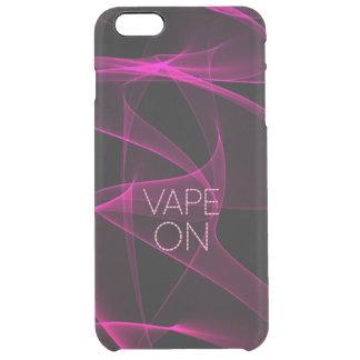 ピンクの黒い煙のVape クリア iPhone 6 Plusケース