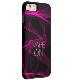 ピンクの黒い煙のVape シェル iPhone 6 ケース