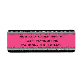 ピンクの黒くカスタマイズ可能な寸断されたラベル ラベル
