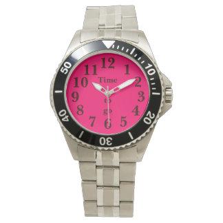 ピンクの黒 腕時計