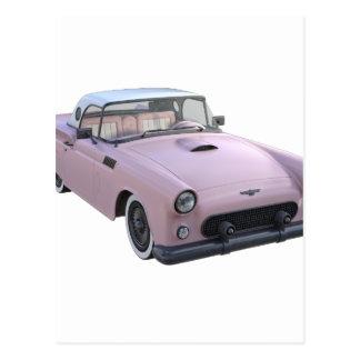 ピンクの50年代のスポーツ・カー ポストカード