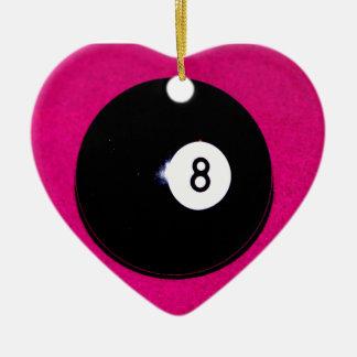 ピンクの8球 セラミックオーナメント