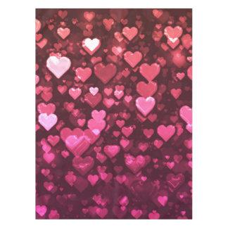 ピンクの《写真》ぼけ味のハートのデジタル背景の壁紙 テーブルクロス