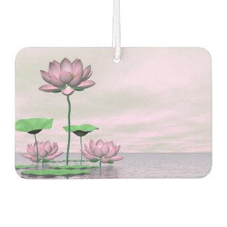 ピンクの《植物》スイレンおよびはすの花- 3Dは描写します カーエアーフレッシュナー