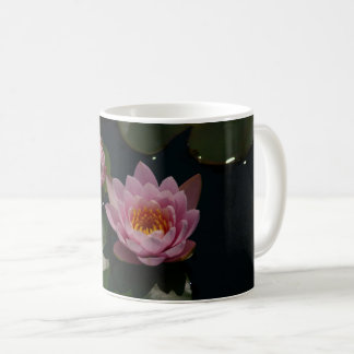 ピンクの《植物》スイレン コーヒーマグカップ