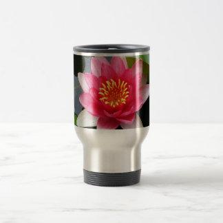 ピンクの《植物》スイレン トラベルマグ