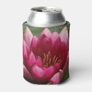 ピンクの《植物》スイレン 缶クーラー