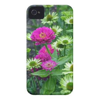 ピンクの《植物》百日草によってはプリントのiphoneの箱がやっとそこに開花します Case-Mate iPhone 4 ケース