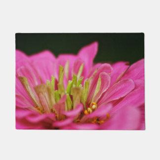 ピンクの《植物》百日草のドア・マット ドアマット