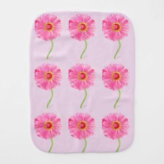ピンクの《植物》百日草のベビーブランケット バープクロス