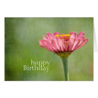 ピンクの《植物》百日草 カード