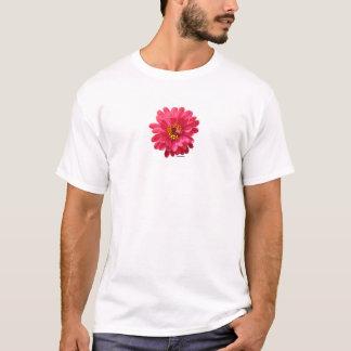 ピンクの《植物》百日草 Tシャツ