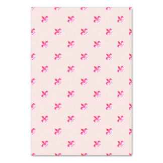 ピンクの(紋章の)フラ・ダ・リの白い背景 薄葉紙