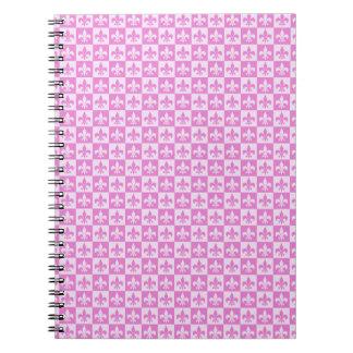 ピンクの(紋章の)フラ・ダ・リ ノートブック