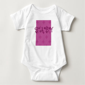 ピンクの(紋章の)フラ・ダ・リ ベビーボディスーツ