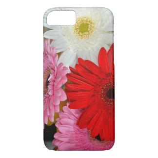 ピンクの、赤と白のガーベラによってはiphoneの箱が開花します iPhone 8/7ケース
