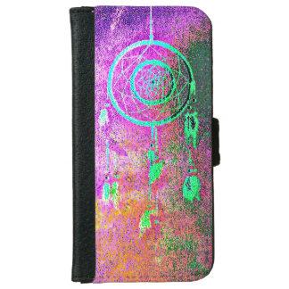 ピンクのAbstact Dreamcatcher iPhone 6/6s ウォレットケース