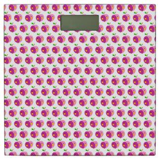 ピンクのAppleパターン体重計 体重計