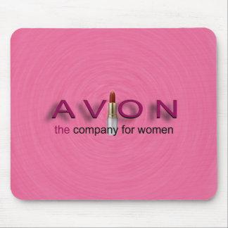 ピンクのAVONのマウスパッドでかわいらしい マウスパッド