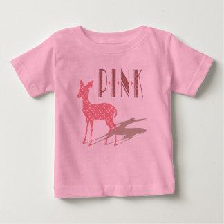 ピンクのBambiのベビーのTシャツ ベビーTシャツ