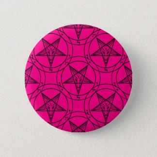 ピンクのbaphomet 5.7cm 丸型バッジ