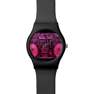 ピンクのboombox 腕時計