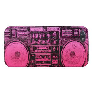 ピンクのboombox iPhone 5 case
