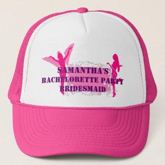 ピンクのbridesmidのバチェロレッテ キャップ