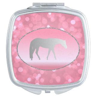 ピンクのBrokehの銀製の西部の喜びの馬