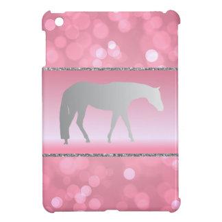 ピンクのBrokehの銀製の西部の喜びの馬 iPad Mini カバー
