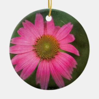 ピンクのConeflower セラミックオーナメント