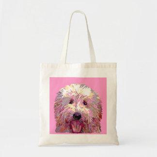 ピンクのDazzlilngの落書きはトートを着色します トートバッグ