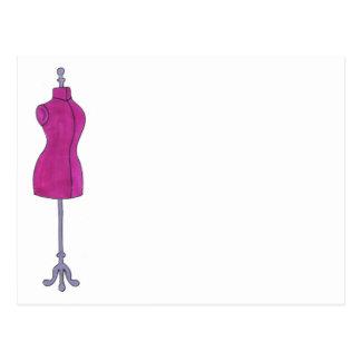 ピンクのDressformのファッションのデザインの裁縫のマネキン ポストカード