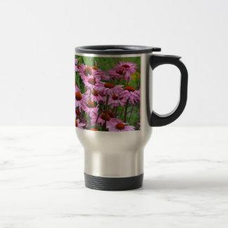 ピンクのechinaceaの花園 トラベルマグ
