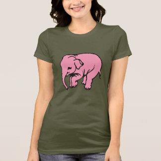 ピンクのElefant Tシャツ