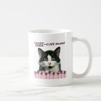 ピンクのFelix熱狂するな猫itude コーヒーマグカップ